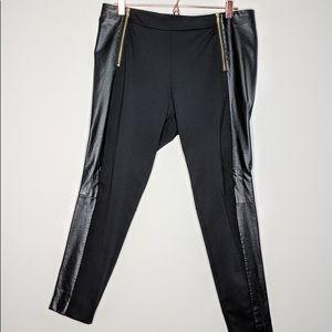 H&M Vegan Leather Trim Leggings